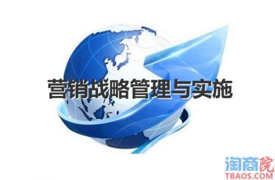 电商营销战略的制定管理与实施